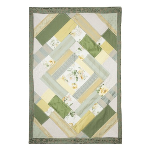 Tappeto patchwork giallo/verde