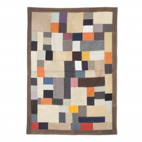Tappeto patchwork marrone