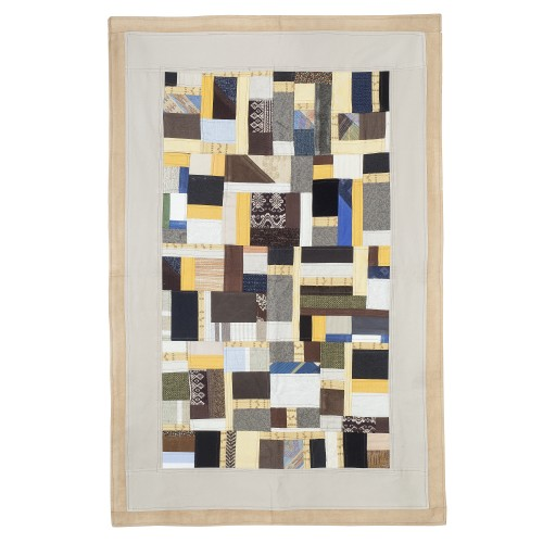 Tappeto patchwork beige