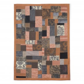 Tappeto patchwork ruggine